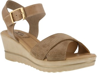 Spring Step Leather Ankle Strap Sandals - Rochelle