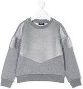 Diesel metallic block sweater