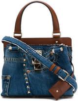 Valentino denim embellished shoulder bag