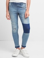 Gap High stretch distressed patch jeggings