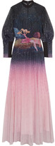 Mary Katrantzou Day Dream Embellished Ombré Tulle Gown - Midnight blue