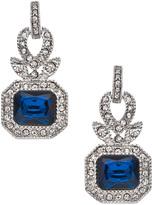Carolee Regal Reflection Sapphire Rectangular Drop Earrings