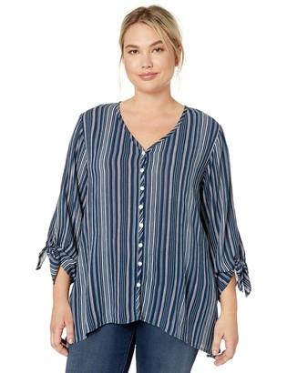 Karen Kane Women's Plus Size TIE-Sleeve TOP