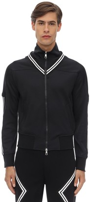 Neil Barrett Zip-up Tech Jersey Track Jacket