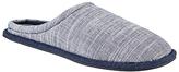 Kin By John Lewis Slub Weave Slippers, Blue/off White