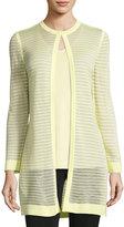 Ming Wang Sheer Knit Long Jacket, Sunshower