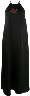 Giada Benincasa Ciao Amore satin maxi dress