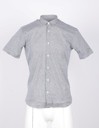 Takeshy Kurosawa Short-Sleeved Gray Men's Shirt