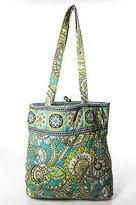 Vera Bradley Green Blue Cotton Abstract Print Double Strap Small Tote Handbag
