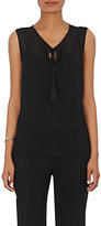 Barneys New York WOMEN'S SWISS DOT CHIFFON TANK