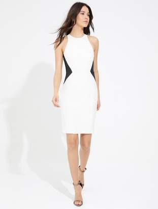 Halston SLEEVELESS ROUND NECK DRESS