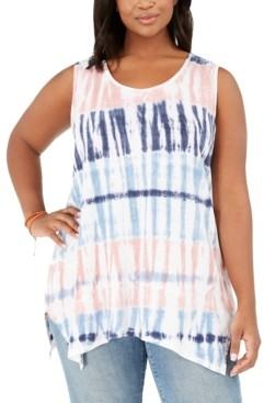 Style&Co. Style & Co Plus Size Tie-Dyed Tank Top, Created for Macy's