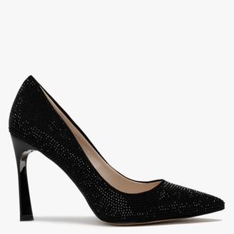 Df By Daniel Icarus Black Diamante Embellished Court Shoes