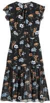 Markus Lupfer Printed Silk Dress