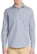 Saks Fifth Avenue BLACK Slim-Fit Gingham Cotton Sportshirt