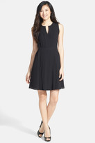 Halogen Pleated Fit & Flare Dress (Petite)