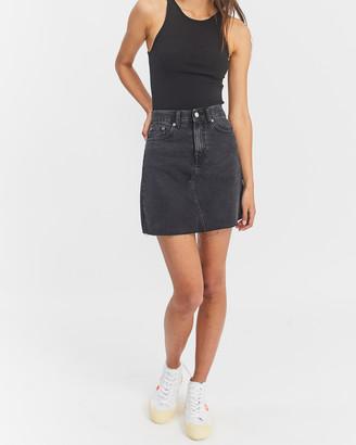 Dr. Denim Women's Black Denim skirts - Echo Skirt - Size One Size, XS at The Iconic