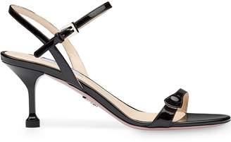 Prada buttoned strap 65mm sandals