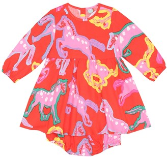 Stella Mccartney Kids Printed dress and bloomers set