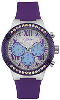 GUESS Showstopper Stainless Steel Resin Strap Analog Watch