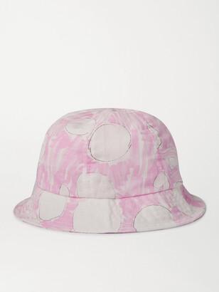 Folk Printed Linen Bucket Hat