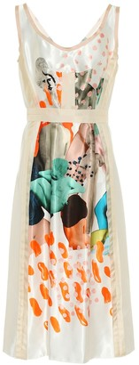 Marni Printed cupro dress