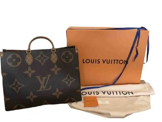 Louis Vuitton Onthego Brown Leather Handbags