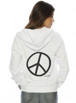 Peace Love World I am Peace Zip Hoodie
