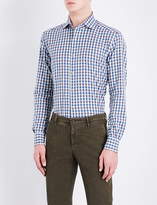 Corneliani Regular-fit gingham checked cotton shirt