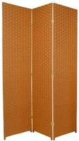 Oriental Furniture 6-Feet Tall Woven Fiber Room Divider, Special Edition
