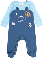 Baby Nay Royal Blue Dog French Terry Footie - Infant