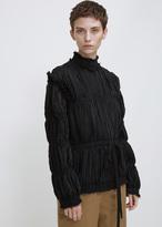 J.W.Anderson black pleated light crepe jacket