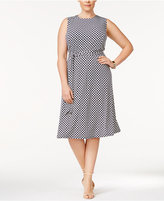 Charter Club Plus Size Printed Fit & Flare Dress, Only at Macy's