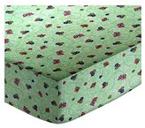 686 SheetWorld Fitted Basket Sheet - Green Butterfly Daisy - Made In USA - 13 inches x 27 inches (33 cm x cm)