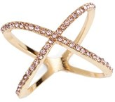 BP Junior Women's Rhinestone Crossover Ring