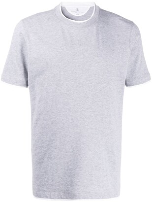 Brunello Cucinelli layered look crew neck T-shirt