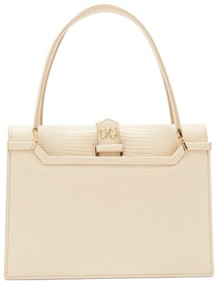 Dolce & Gabbana Ingrid Small Lizard-effect Leather Bag - Womens - Nude