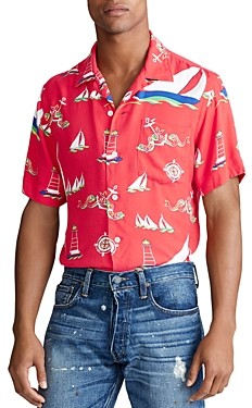 Polo Ralph Lauren Sailboat Camp Custom Fit Shirt