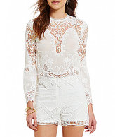 Lucy Paris Christelle Mockneck Lace Bell Sleeve Top