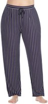 Donna Karan Plus Striped Jersey Lounge Pants