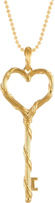 Peter Thomas Roth 18K Heritage Heart Key Pendan t w/ Chain, 11