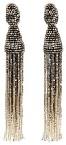 Oscar de la Renta Ombre Tassel C Earrings