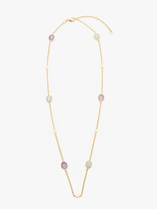 John Lewis & Partners Gemstones Hexagonal Stone Necklace