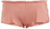 Carine Gilson Lace-trimmed silk-satin pyjama shorts
