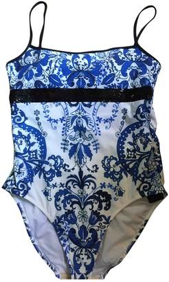 Andres Sarda White / Blue Polyamide Swimwear