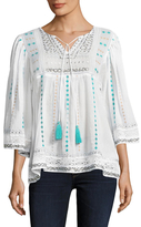 Plenty by Tracy Reese Cotton Embroidered Blouse