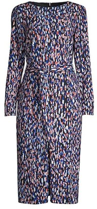 HUGO BOSS Darota Leodot Printed Dress