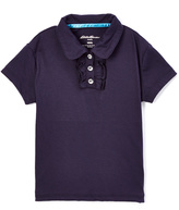 Eddie Bauer Navy Peter Pan Collar Polo - Girls