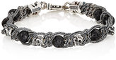 Emanuele Bicocchi Men's Braided Chain Bracelet-Black