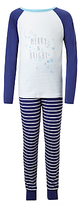 John Lewis Children's Merry And Bright Pyjamas, Blue